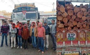 Udaipur SOG arrested criminals involve in trafficking of kher wood
