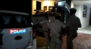 police investigating on murder spot